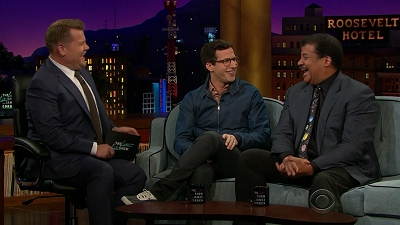 S02E106 - Andy Samberg, Neil deGrasse Tyson, Globe of Steel, Mike Yung