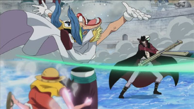 S13E89 - The Great Swordsman Mihawk! Luffy Comes Under the Attack of the Black Sword!