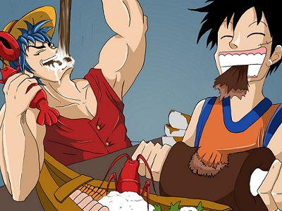 S14E11 - The Strongest Tag-Team! Luffy and Toriko\'s Hard Struggle!