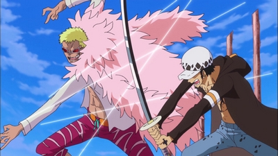 S17E33 - A Showdown Between the Warlords! Law vs. Doflamingo!