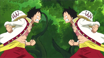 S19E12 - A Mysterious Forest Full of Candies! Luffy vs. Luffy!